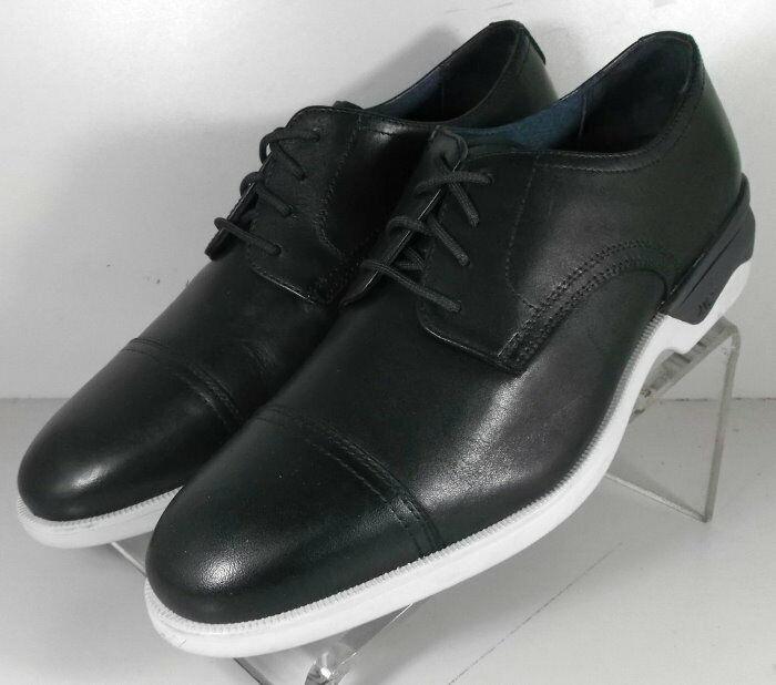155277 MS50 Men's Shoes Size 13 M Black Leather Lace Up Johnston & Murphy