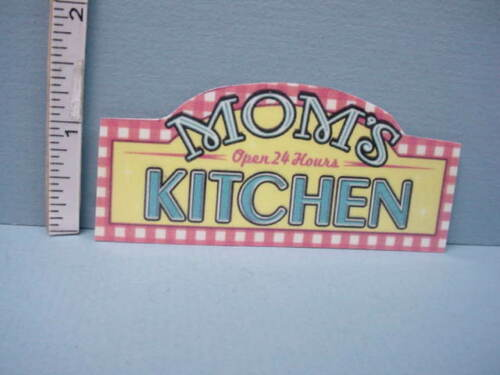 Miniature Mom/'s Kitchen Restaurant  Sign Laminated Paper Sign Teri/'s Workshop