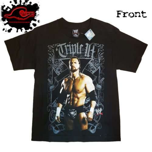 Tripple H Official WWE Portait Wrestling T-Shirt Rare Import Junior Sized