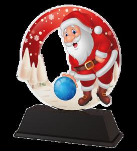 Gravure Gratuite 130 mm 3 Tailles Père Noël Dix Quilles Trophée Acrylique