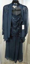 e24d9733fe4ca Emma Street Women s Plus Size Lace Pant Suit Combo Navy 18w for sale ...