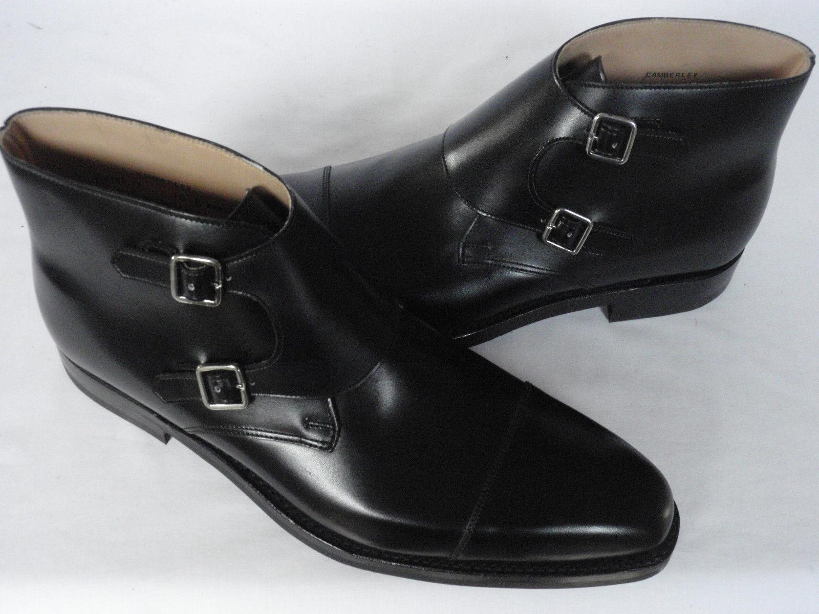 MEN SOFT HANDMADE BLACK OXFORD TOE MONK FORMAL BOOT PURE SOFT MEN LEATHER Schuhe FOR MEN 652d2b