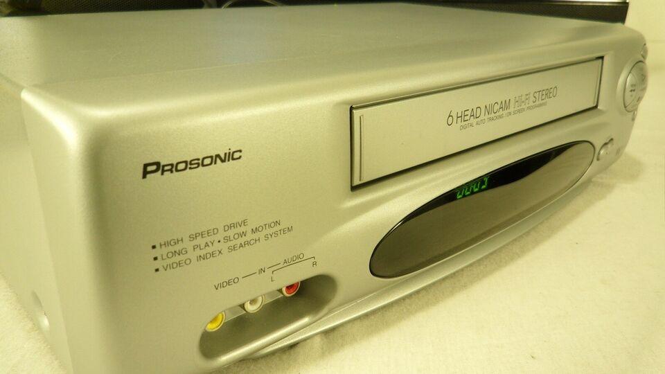 VHS videomaskine, Prosonic, VCR X-61