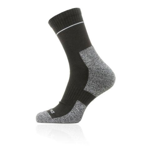 Black Grey Sports SealSkinz Unisex Sealskinz Solo Quickdry Ankle Socks
