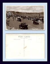 UK ISLE OF MAN DOUGLAS PROMENADE HORSE DRAWN TRAM REAL PHOTO POSTCARD CIRCA 1935