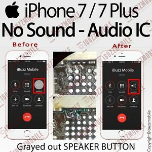 speaker button not working on iphone 7