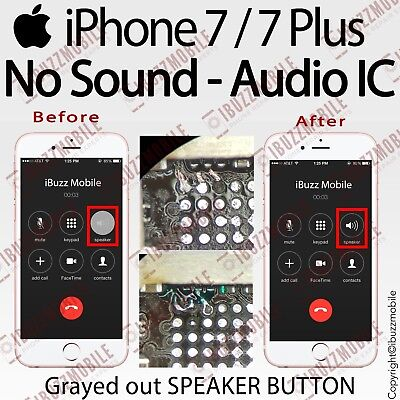 iphone telephone speaker not working