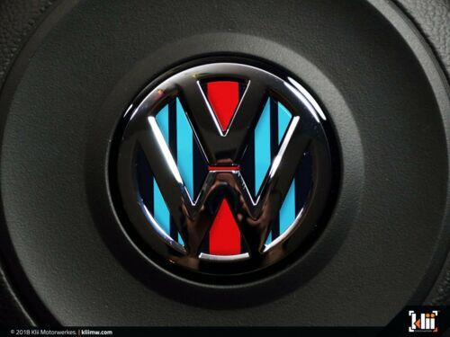 VW Steering Wheel Badge Insert Racing Livery No.2