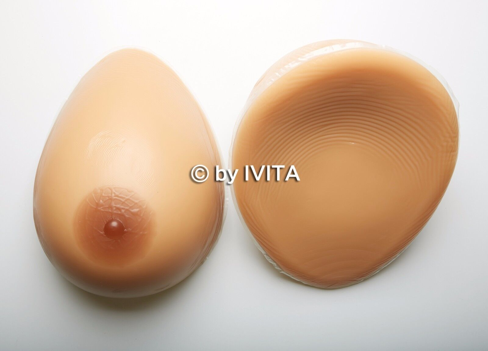 IVITA 2400g Silicone False Breast Forms G Cup Crossdress Transvestite Fake Boobs
