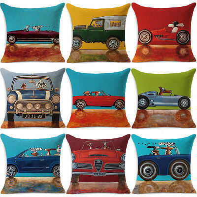 "18"" Linen Cotton Fashion Throw Pillow Case Cushion Cover Home Sofa Decor New"