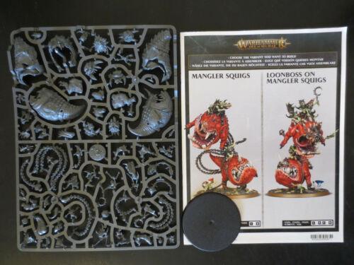 Warhammer Age of Sigmar Gloomspite Gitz Mangler Squigs Loonboss on Mangler