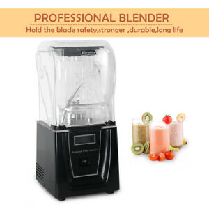 Details about 1800W Commercial Smoothie Blender With Soundproof Cover Juicer Soy Milk CE