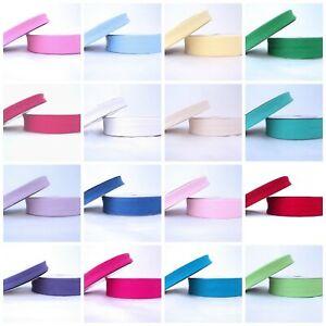 Plain-BIAS-BINDING-Tape-18mm-amp-30mm-Cotton-Trim-20-Colours-5m-25m-Wholesale