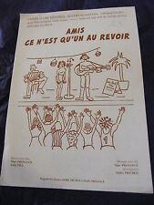 Partition Amis ce n'est q'un au revoir  de Marc Provance et André Trichot