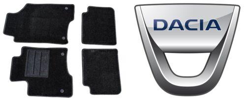 Tappetini su Misura Dacia Sandero Set Completo Moquette Alta Qualità 1Ricamo