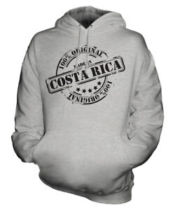 MADE IN COSTA RICA UNISEX HOODIE MENS WOMENS LADIES GIFT CHRISTMAS BIRTHDAY 50TH