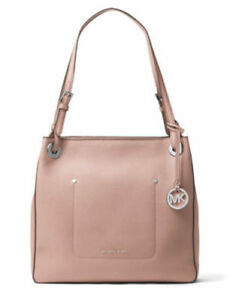 29aada40be80 NWT $278 Michael Kors Walsh Medium Fawn Leather Shoulder Tote Bag ...