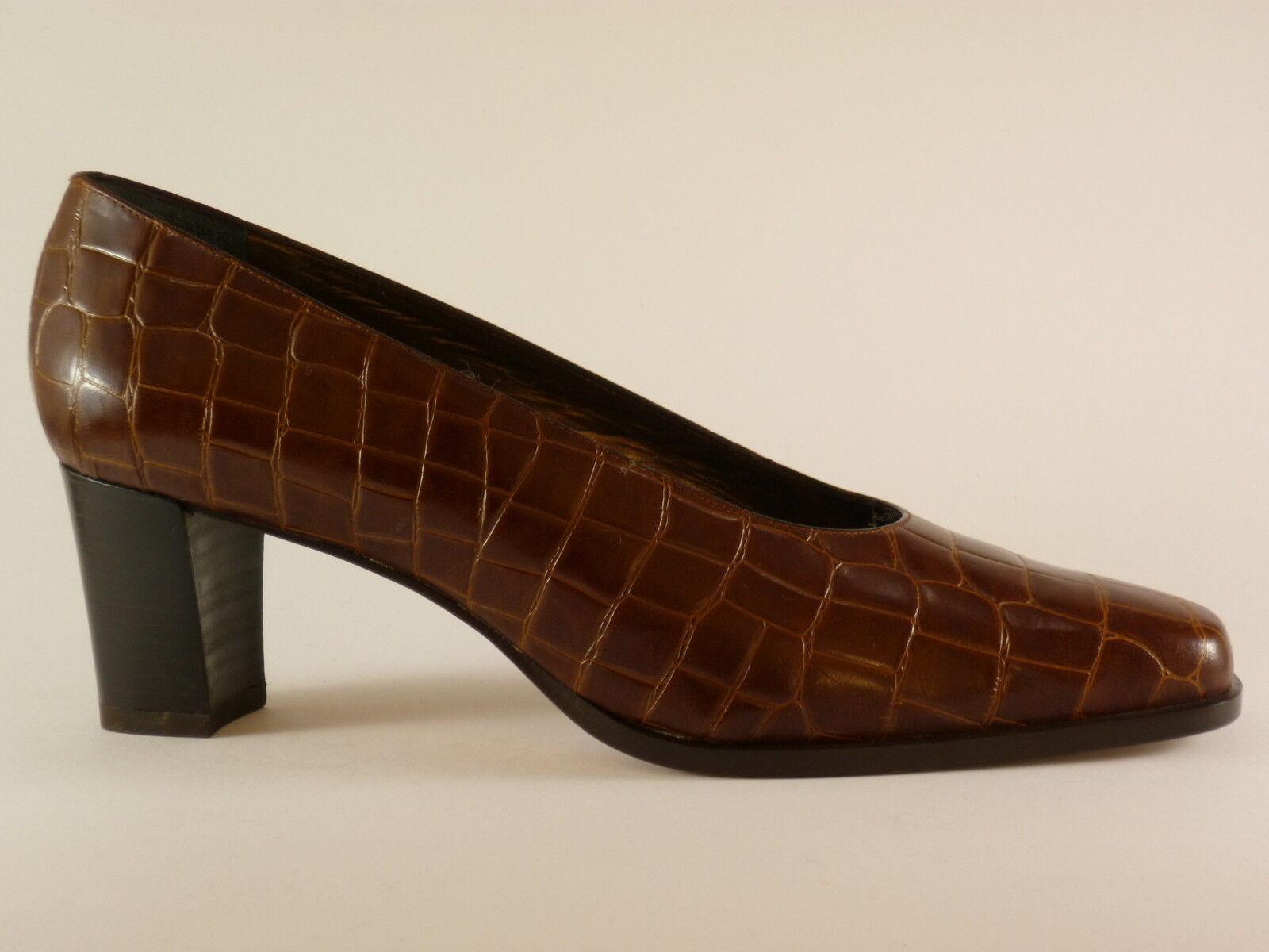 Marcello Giovannetti Chaussures Femmes 41 Cuir Marron de Soirée Escarpins Neuf