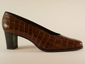 Détails sur Marcello Giovannetti Chaussures Femmes 41 Cuir Marron de Soirée Escarpins Neuf