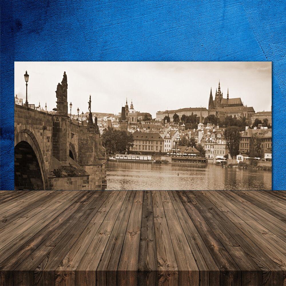 Crédence de cuisine en verre Panneau 120x60 Paysage Pont De Prague