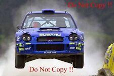 Richard Burns Subaru Impreza WRC2001 campeón mundial Rally 2001 fotografía