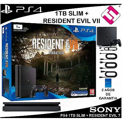 VIDEOCONSOLA SONY PS4 PLAYSTATION 4 1TB SLIM RESIDENT EVIL 7 OFERTA TOP VENTA