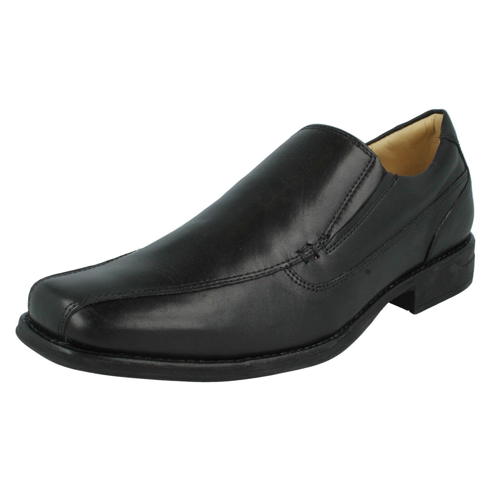 Herren Anatomic & Co einfach schwarz Leder Slipper Formell Smart Arbeitsschuhe