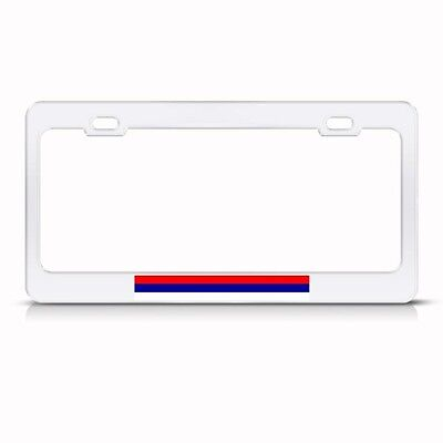 NEW SERBIAN FLAG SERBIA Chrome Metal License Plate Frame Auto SUV Tag Holder