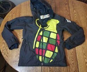 Grenade Fatigue Project Rasta Colors Black Snowboarding Ski Jacket Medium