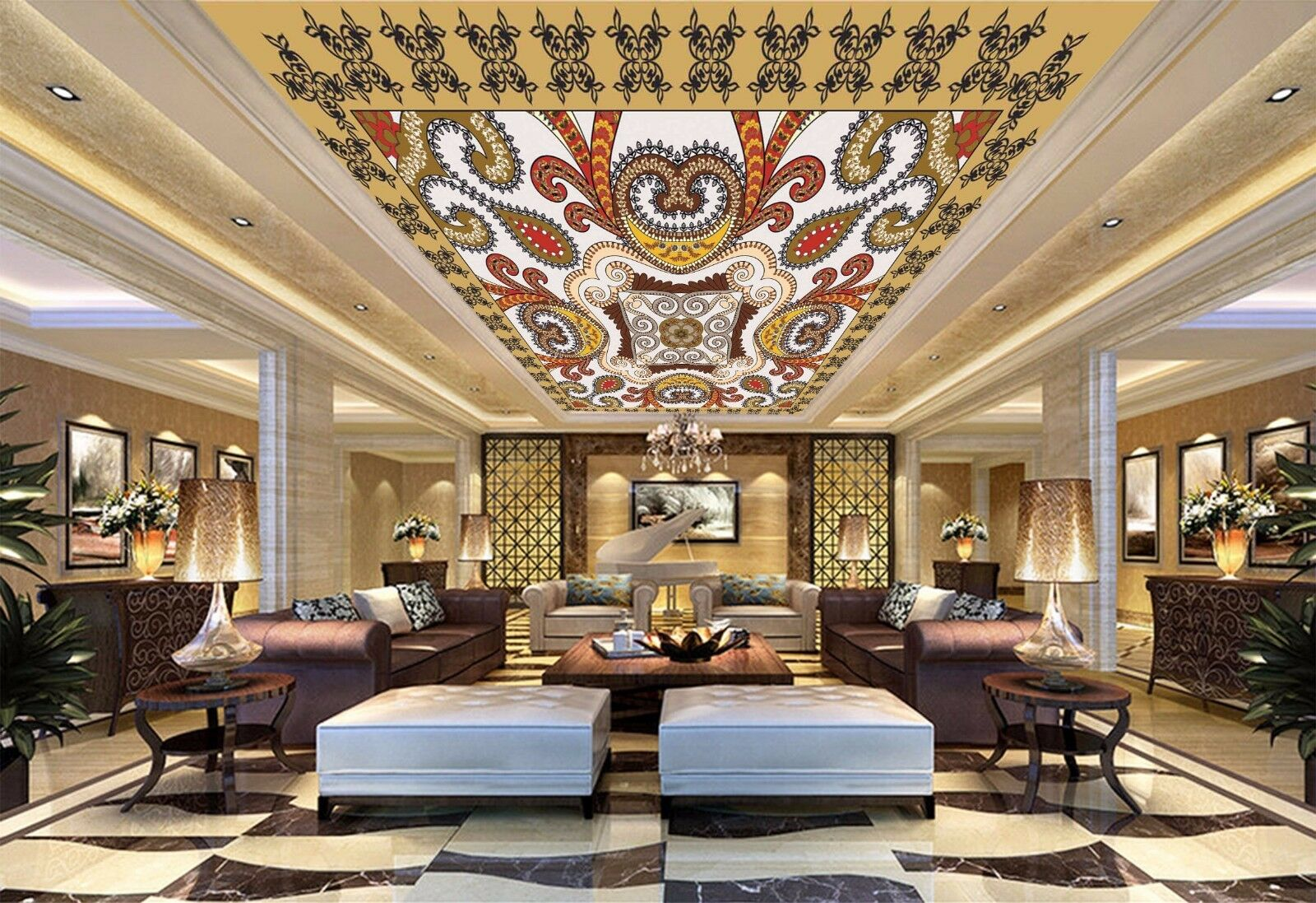 3D Cute Design 72 Ceiling WallPaper Murals Wall Print Decal Deco AJ WALLPAPER GB