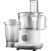 Kenwood Fpp220 Compact Food Processor Blender Stainless Blades 750w 1.2l - White