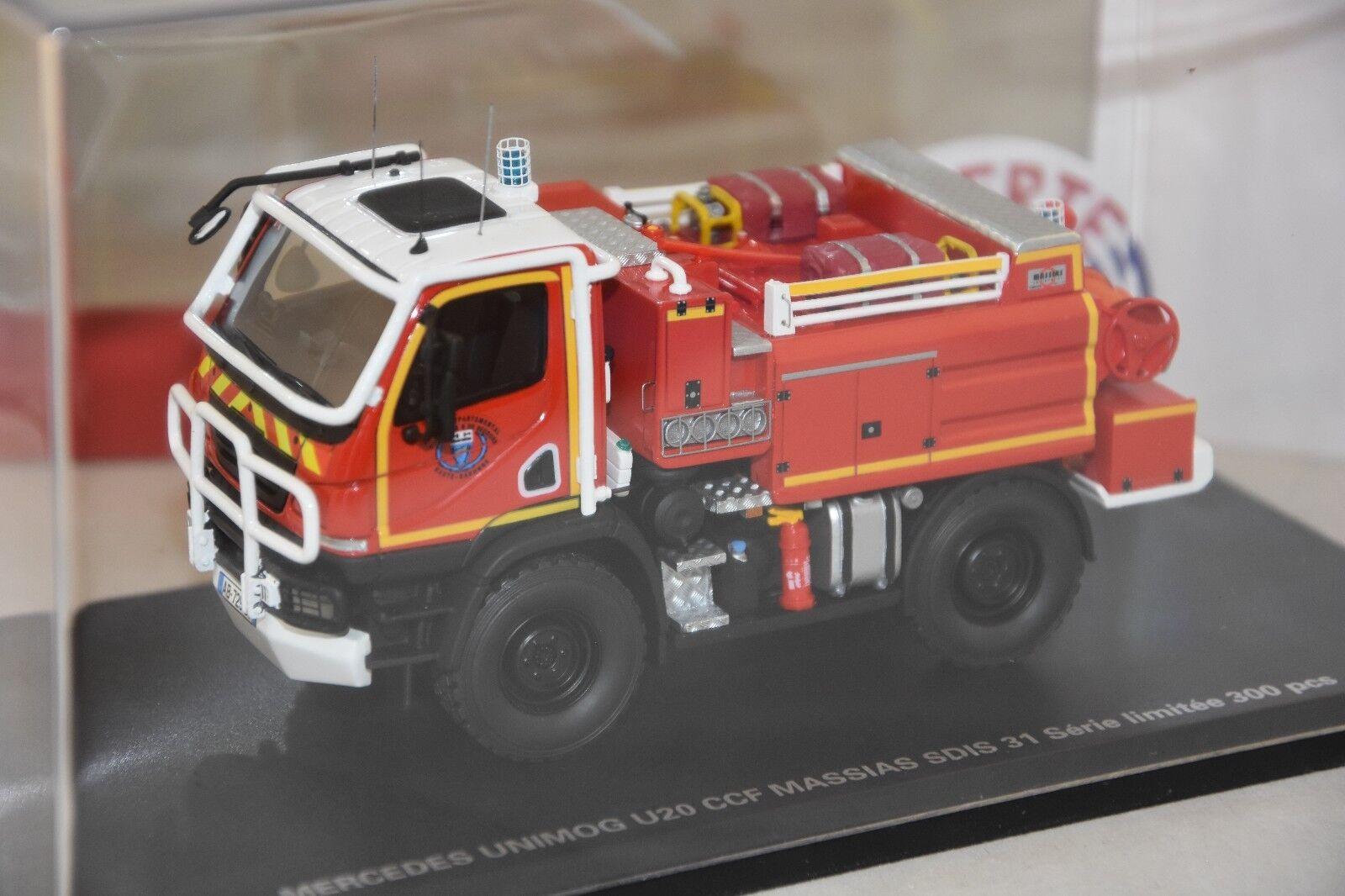 ALERTE 066 - MERCEDES UNIMOG U20 MASSIAS SDIS 31 HAUTE GARONNE Pompiers  1/43