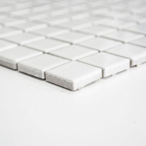 Keramik Mosaik weiß glänzend 2,3x2,3 Dusche Küche zur modernen Gestaltung