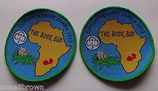 UK GIRL GUIDES:  MINT GIRLGUIDING LASER ZAMBIA 2012 - THE BOOK BUS x 2