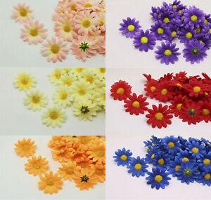 30-60PCS NEW Gerbera Daisy Artificial Silk Flowers Head Wedding Party decoration