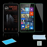 Panzerglas Microsoft Lumia 535 Dual Sim Display Echt Glas Folietempered Glass 9h