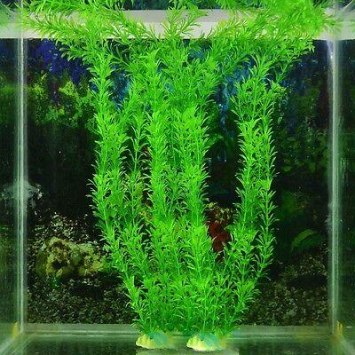 """13"""" Artificial Green Plant Grass Fish Tank Aquarium Ornament Plastic Decoration"""