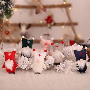 EE _ Mignon Chapeau Mini Sans Visage Poupée vieux Gnome Pendentif Ornement De Noël Décoration