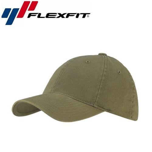 Flexfit Garment Washed Baseball Cap S/M Olive