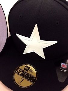 6f4d9a17859e1 DALLAS COWBOYS NFL NEW ERA 59FIFTY POLISHED PIECE BLACK FITTED HAT ...