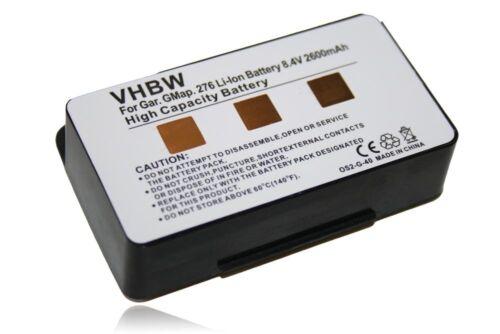 Original VHBW ® batería 2.6ah para Garmin serie GPSMAP 296 396 496