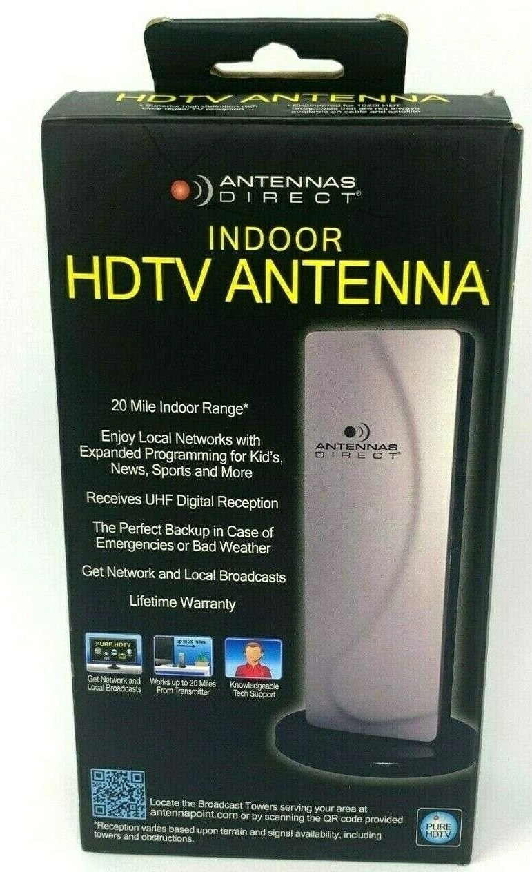 Antenna's Direct Indoor HDTV Amplified Antenna AD100 Television 20 Mile Radius . Available Now for 19.95