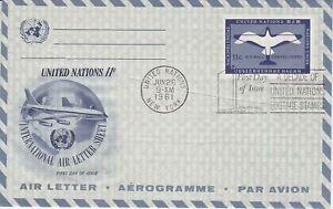 United-Nations-NY100-Enveloppe-1er-jour-1961-Air-Letter-Aerogramme-11c