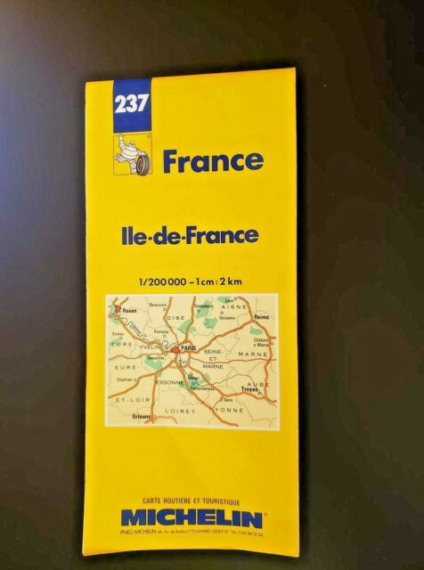 France Map #237 1996 (Michelin National Maps) Very Detailed Excellent Condition