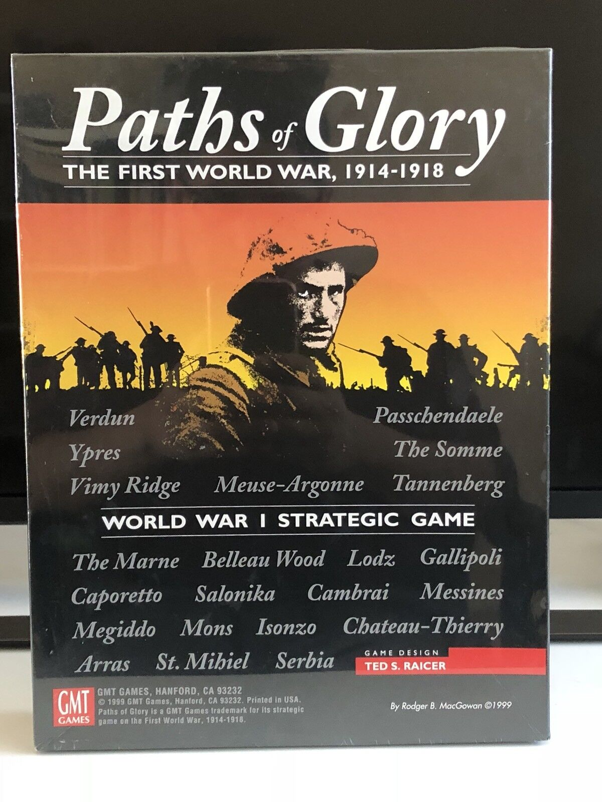 Paths of Glory Glory Glory The First World War 1914-1918 Strategic Game 1999 Hard To Find b44837