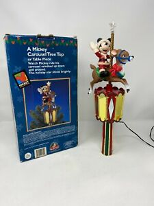Mr-Christmas-Disney-Mickey-Mouse-Reindeer-Carousel-Tree-Topper-Rotates-Lights