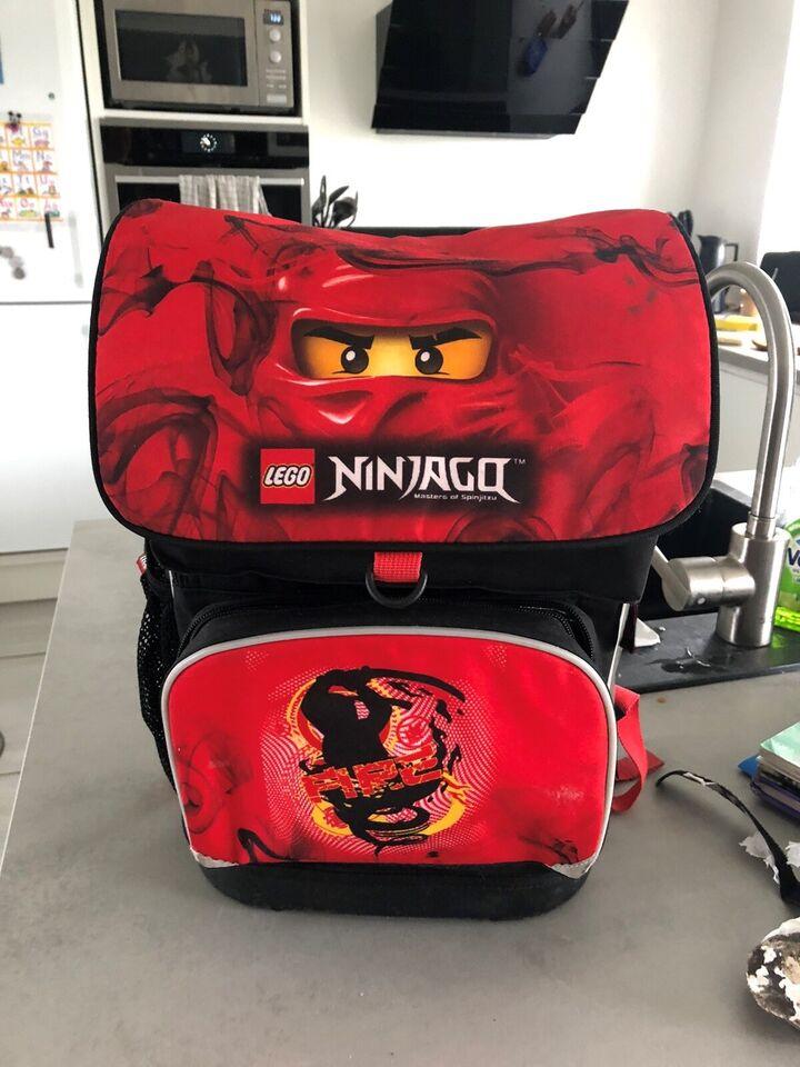 Skoletaske, Lego Ninjago rød – dba.dk – Køb og Salg af Nyt
