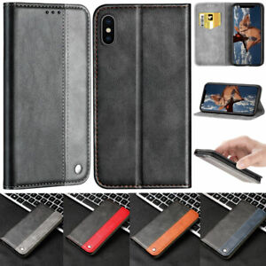 Slim-Folio-Wallet-Leather-Flip-Case-Cover-For-iPhone-5-SE-6-7-8-Plus-X-XR-XS-Max