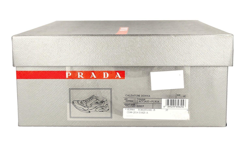 LUXUS PRADA PRADA PRADA SNEAKER SCHUHE 3E5964 grey + PINK NEU NEW 40 40,5 UK 7 68b92b