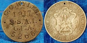 German East Africa Soldatenerkennungsmarke From 1 Rupee J.713 1899/1917 VF